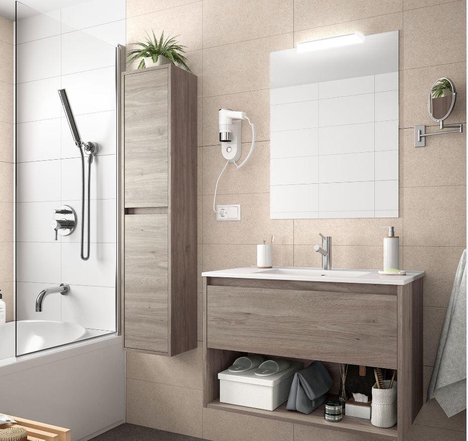Bathroom Complete set Koja 600 Eternity Oak 1 drawer