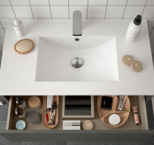 Bathroom Complete set Koja 1000 Matt Grey1 drawer