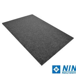 Nero Assoluto Natuursteen Tegels Leather Finish, Facet, Gekalibreerd, 1.Keuz Premium kwaliteit in 60x40x1 cm