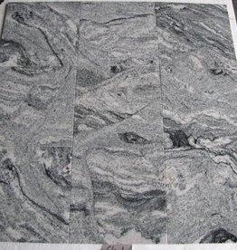 Viscont White Granitfliesen Poliert Gefast Kalibriert 1.Wahl in 30,5x30,5x1cm