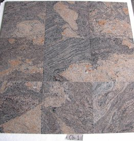 Juparana Colombo Dalles en granit poli chanfrein calibré 1. Choice dans 30,5x30,5x1cm