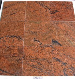 Multicolor Red Granite Tiles Polished Chamfer Calibrated 1. Choice in 30,5x30,5x1cm