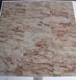 Ivory Brown Shivakashi Dalles en granit poli chanfrein calibré 1. Choice dans 30,5x30,5x1cm