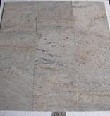 Kashmir White Dalles en granit poli chanfrein calibré 30,5x30,5x1cm
