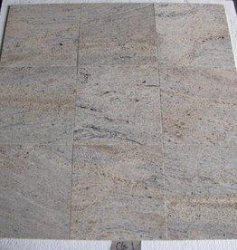 Kashmir White Oro Dalles en granit poli chanfrein calibré 1. Choice dans 30,5x30,5x1cm