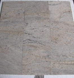 Kashmir White Oro Granite Tiles Polished Chamfer Calibrated 1. Choice in 30,5x30,5x1cm