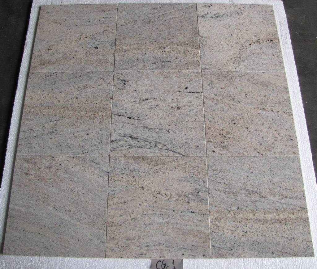 Kashmir White Oro Granite Tiles Polished Chamfer Calibrated 30,5x30,5x1cm