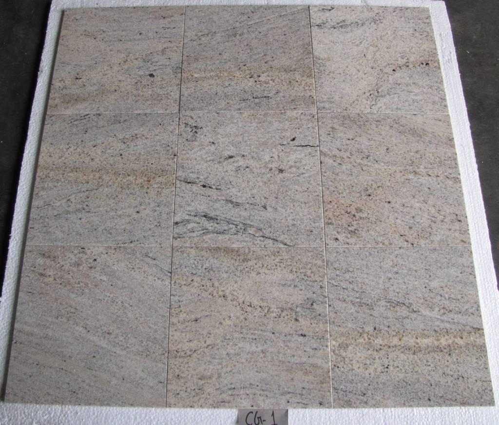 Kashmir White Oro Natuursteen Tegels Gepolijst Facet Gekalibreerd 30,5x30,5x1cm