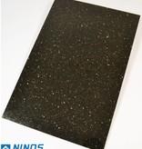 Black Star Galaxy Dalles en granit poli chanfrein calibré 60x40x1 cm