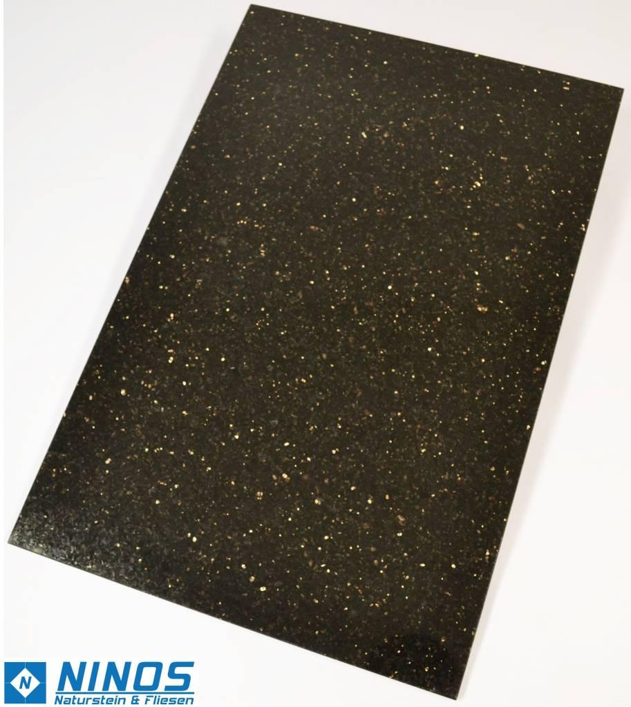 Black Star Galaxy Natursteinfliesen Poliert 60x40x1cm