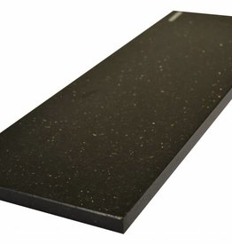 Black Star Galaxy Natuursteen vensterbank gepolijst oppervlak, 1. Keuz, rand tot 1 lange zijde en 2 korte zijden afgeschuind en gepolijst, is het mogelijk om ook te meten!