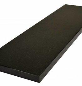 Nero Assoluto Black Naturstein Fensterbank Polierte Oberfläche, 1. Wahl, Kante auf 1 Lange Seite und 2 kurze Seiten Gefast und Poliert, auf Maß auch möglich!