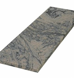 Juparana China Pierre naturelle de seuil surface polie, 1. Choice, bord à 1 côté long et 2 côtés courts anglés et polis, il est possible de mesurer aussi!