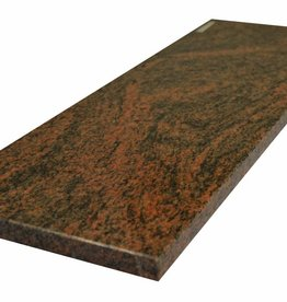 Multicolor Red Pierre naturelle de seuil, surface polie, 1. Choice, bord à 1 côté long et 2 côtés courts anglés et polis, il est possible de mesurer aussi!