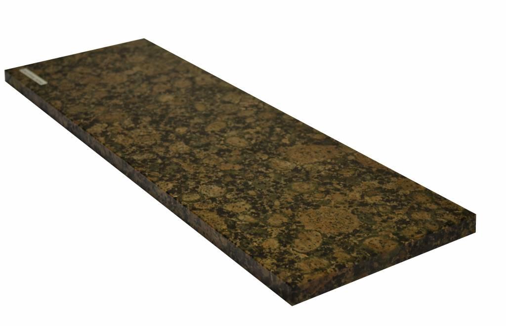 Baltic Brown Natuursteen granieten vensterbank 125x25x2 cm