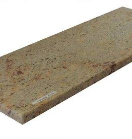 Shivakashi Ivory Brown Naturalny kamień parapet, polerowana powierzchnia, krawędź, aby jeden długi bok i 2 krótkie boki fazka i polerowane, można mierzyć również, 1. wybór!