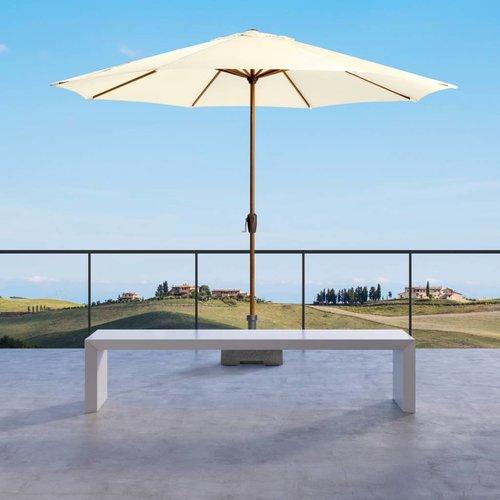 Doppler Parasol Basic Lift  Hout 350 cm rond ecru