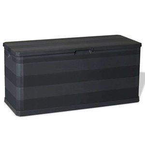 vidaXL Opbergbox voor in de tuin 280 L zwart