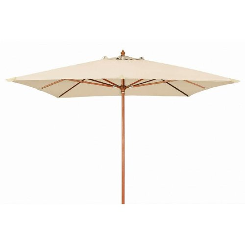 Doppler Houtstok parasol Monte Carlo 300 x 300 cm Ecru