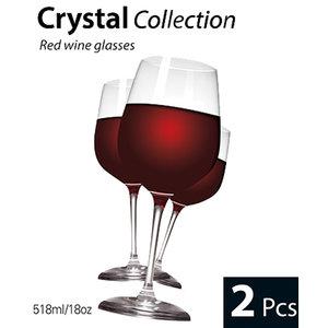 Cuisine Rode wijn glazen (set van 2)