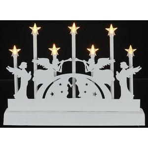 Decoratieve Kaarsenbrug met 7 LED's