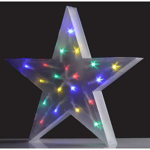 Christmas Gifts Holografische ster meerkleurig 16 LED's