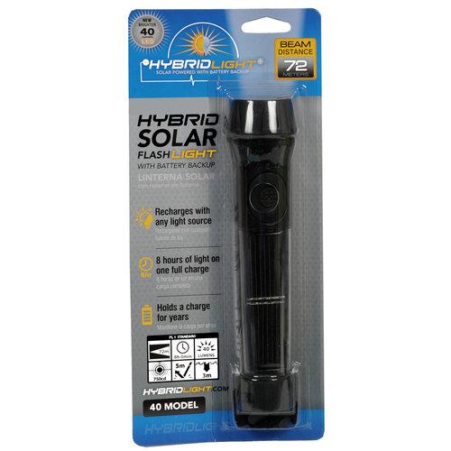 Hybridlight Solar LED zaklamp, 40 Lumen