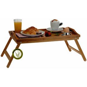 Excellent Houseware. Bamboe dienblad voor op bed (50x30x24)