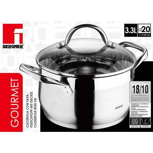 Bergner RVS 18/10 kookpan 20cm - 3,3 liter