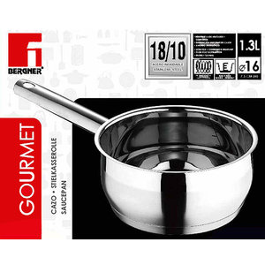 Bergner RVS 18/10 Steelpan 16cm - 1,3 liter