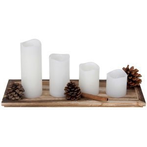 Deco set met 4 LED-kaarsen