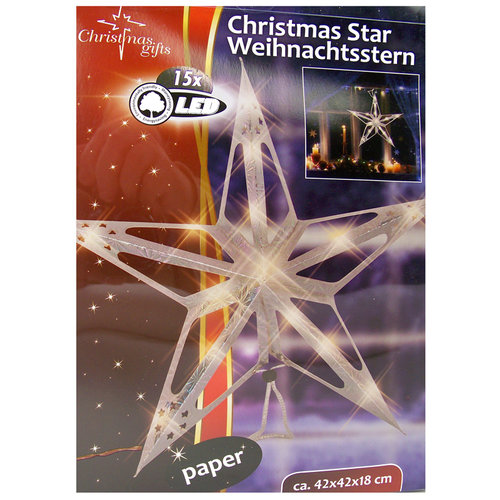 Kerstster 15 LED's