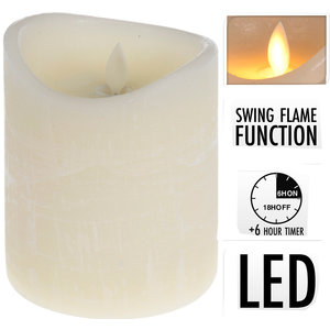 Kaars realistic flame 10x12cm