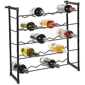 Stapelbaar metalen wijnrek voor 30 flessen
