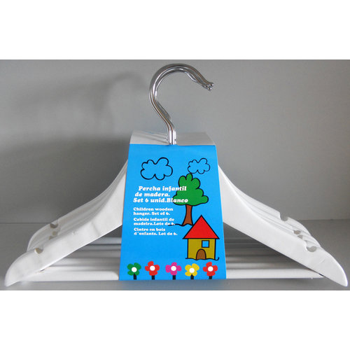 Protenrop Set van 6 kinder-kledinghangers