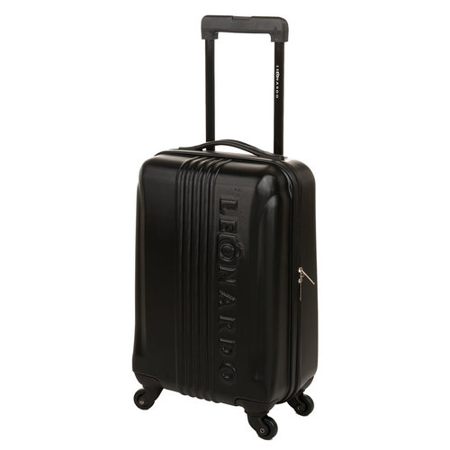68f99acbafa Handbagage koffer fuchsia. €27,95. Leonardo Trolley cabin size zwart