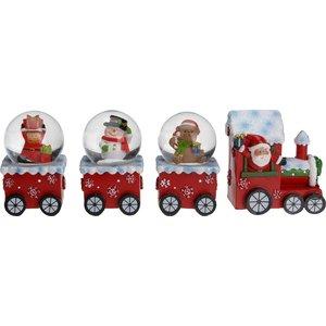 Kersttrein met waterballen