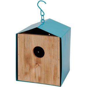 Vogelhuis blauw