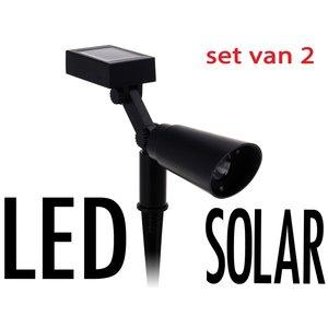 ProGarden Solar LED spot  2 stuks
