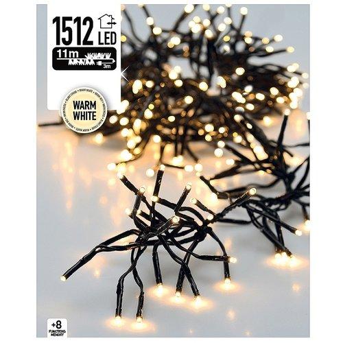 DecorativeLighting Clusterverlichting 1512 LED 11m warm wit
