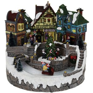 Kerstdorp met beweging en verlichting