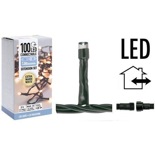 DecorativeLighting Koppelbare Kerstverlichting - 100 LED - 7.5m - warm wit