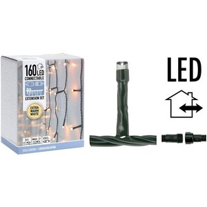 DecorativeLighting Koppelbare IJspegelverlichting - 160 LED - 3m - extra warm wit