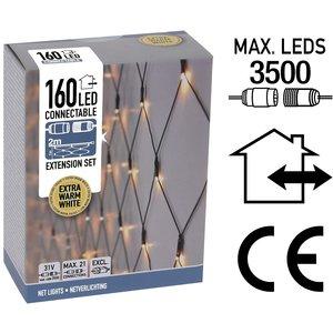 DecorativeLighting Koppelbare Netverlichting - 160 LED - 2m - extra warm wit