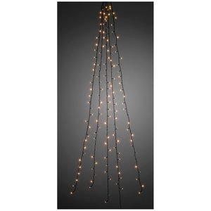 Konstsmide Lichtmantel - 240cm - 5 strengen -  200 LED - warm wit