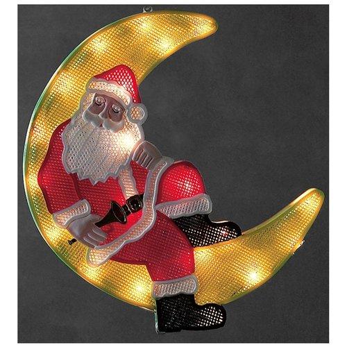 Konstsmide LED Raamdecoratie Kerstman-maan - 40 cm - 20 LED