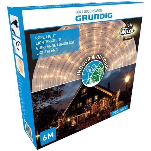 Grundig Lichtslang 6 meter - 144 LED - warm wit