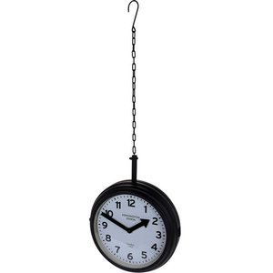 Segnale Stationsklok hangend - 30cm - zwart