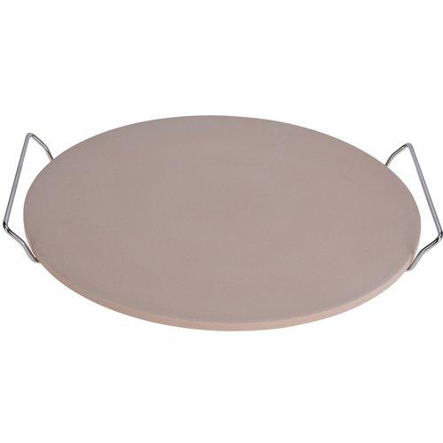 Excellent Houseware. Pizza-baksteen 33cm met metalen houder