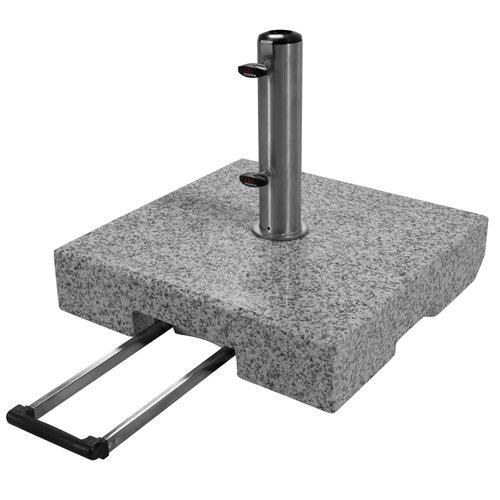 Doppler Parasolvoet graniet trolley vierkant 70 kg